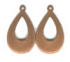 ".75"" Copper Domed Earring   - Product Image"