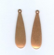 "1"" Copper Domed Earring Tear Drop  - Product Image"