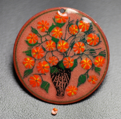Orange Floral Wafers  - Product Image