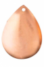 Pear Domed Copper Earring - Product Image
