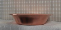 Spun Copper Flange Bowl  - Product Image