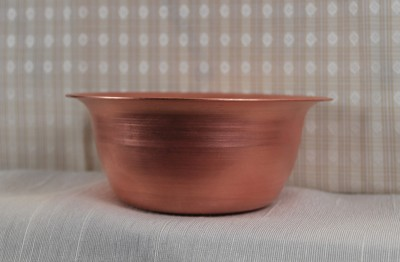 Spun Copper Small Rimmed Bowl - Product Image