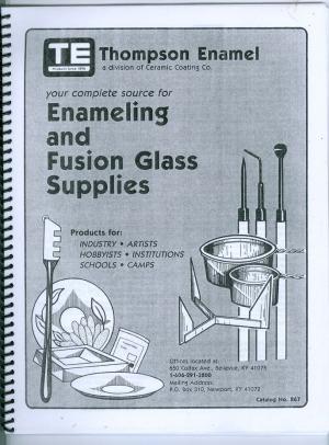 Vintage Thompson Enamel Catalog No. 867 - Product Image